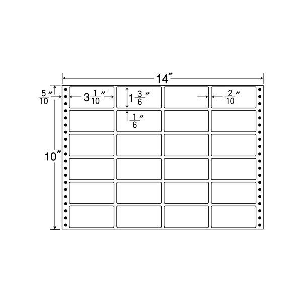 東洋印刷 タックフォームラベル M14C (直送品)