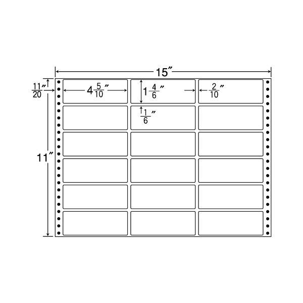 東洋印刷 タックフォームラベル M15B (直送品)