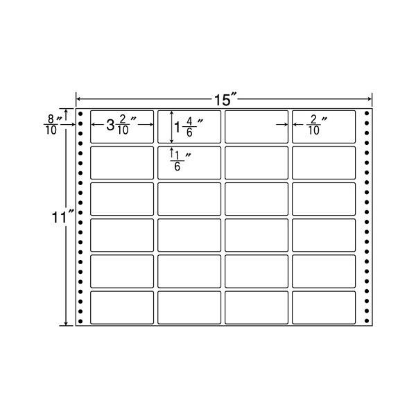 東洋印刷 タックフォームラベル M15O (直送品)