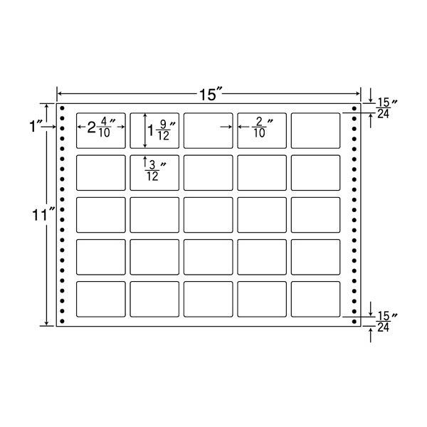東洋印刷 タックフォームラベル M15Z (直送品)