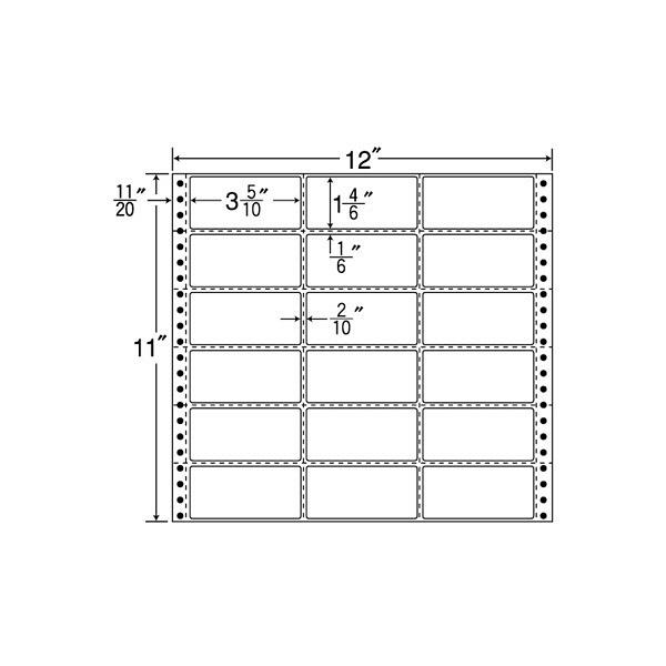 東洋印刷 タックフォームラベル MH12P (直送品)