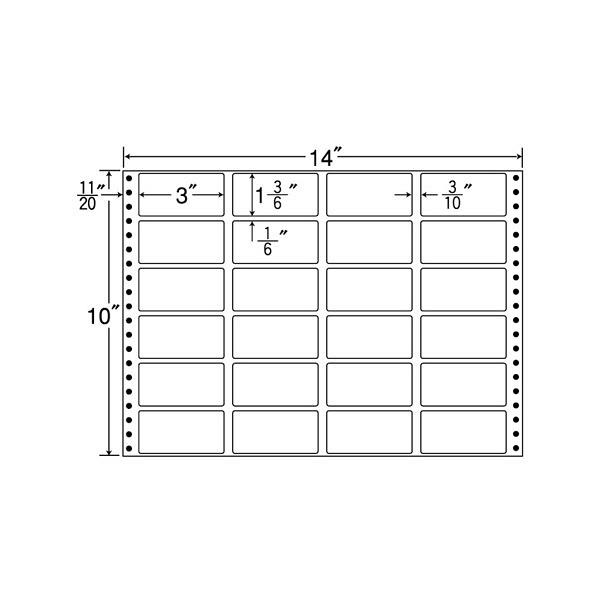 東洋印刷 タックフォームラベル MH14L (直送品)