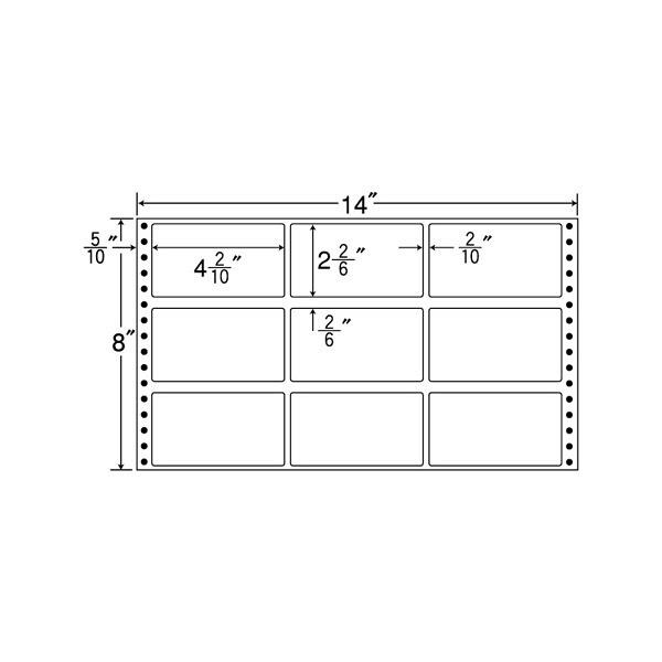 東洋印刷 タックフォームラベル MH14S (直送品)