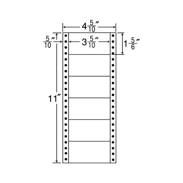 東洋印刷 タックフォームラベル MM4I (直送品)