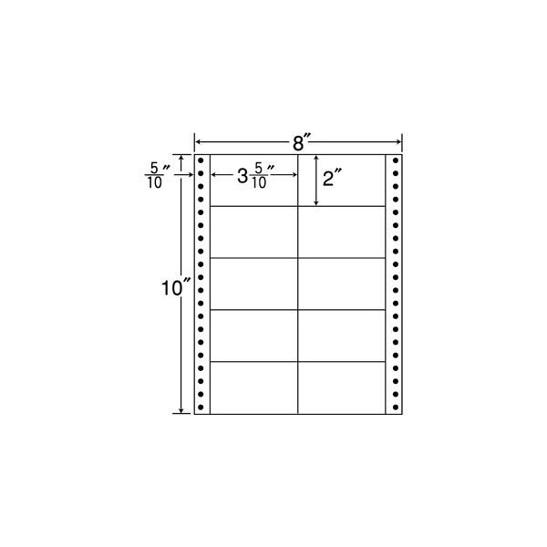 東洋印刷 タックフォームラベル MM8B (直送品)