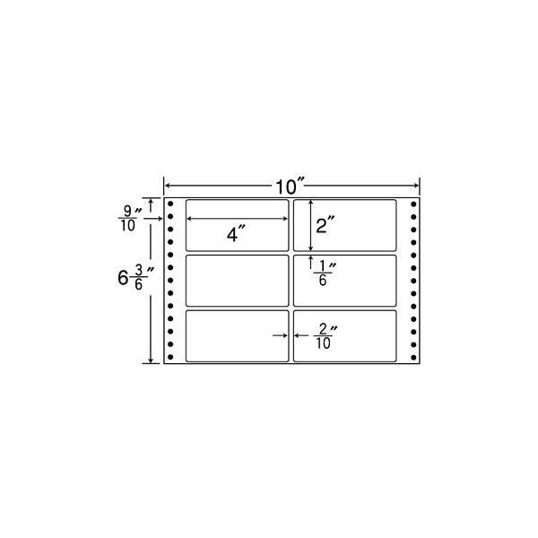 東洋印刷 タックフォームラベル MT10X (直送品)