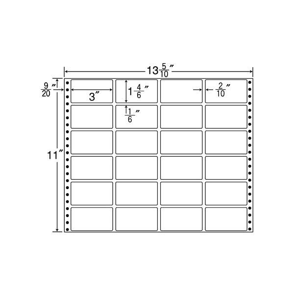 東洋印刷 タックフォームラベル MT13L (直送品)