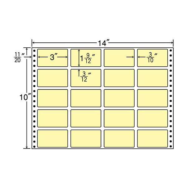 東洋印刷 タックフォームラベルカラータイプ MT14JY (直送品)