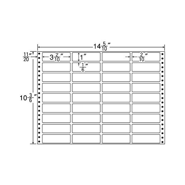 東洋印刷 タックフォームラベル MT14Z (直送品)
