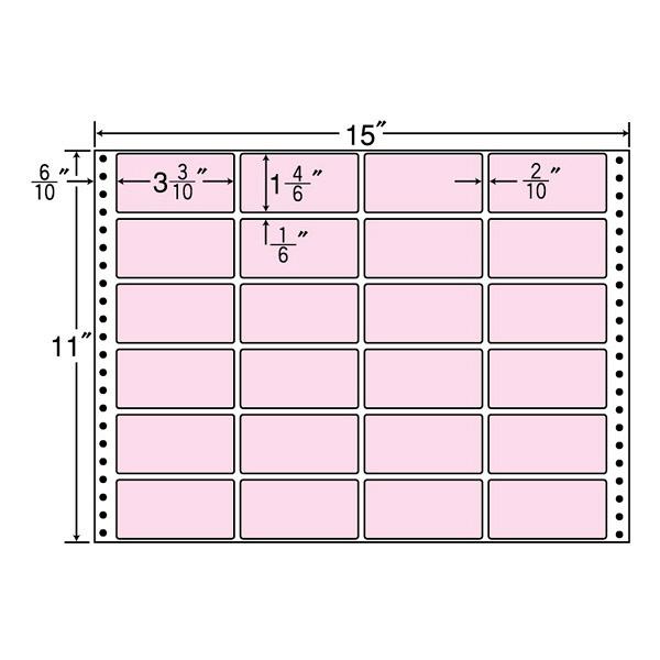 東洋印刷 タックフォームラベルカラータイプ MT15TP (直送品)
