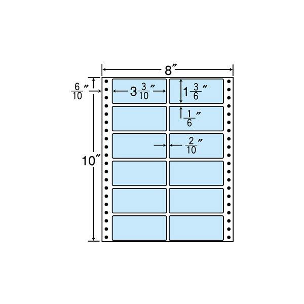 東洋印刷 タックフォームラベルカラータイプ MT8CB (直送品)