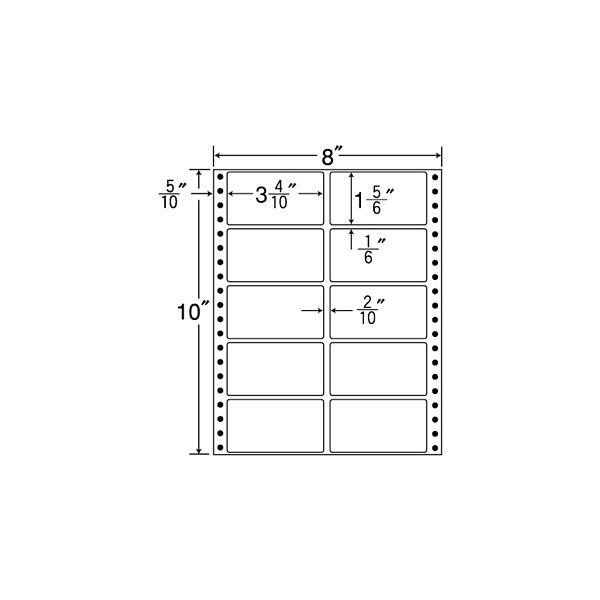 東洋印刷 タックフォームラベル MT8I (直送品)