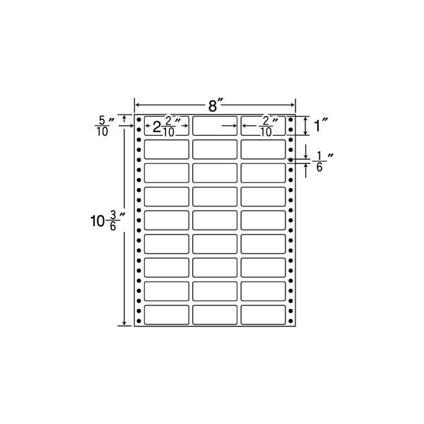東洋印刷 タックフォームラベル MT8W (直送品)
