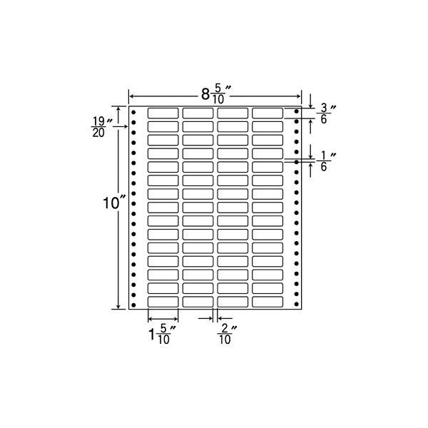 東洋印刷 タックフォームラベル MT8Z (直送品)
