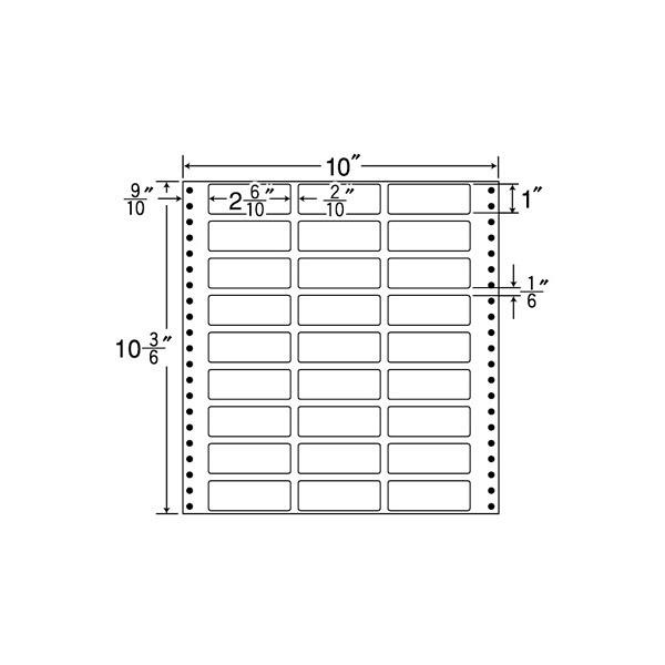東洋印刷 タックフォームラベル MX10C (直送品)