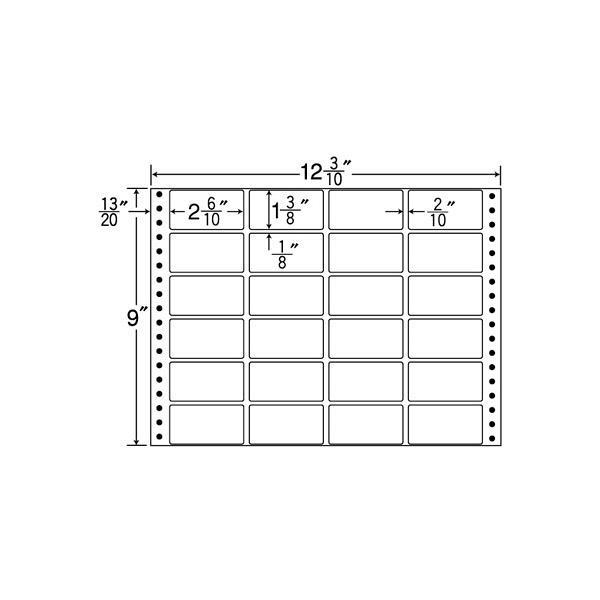 東洋印刷 タックフォームラベル MX12C (直送品)
