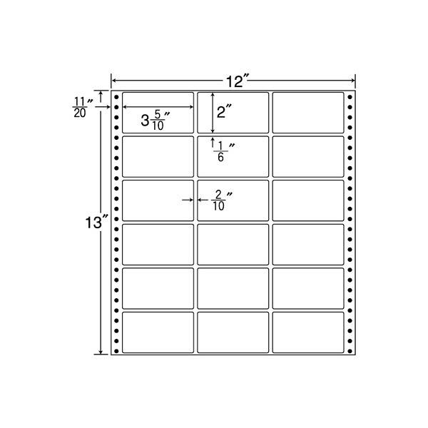 東洋印刷 タックフォームラベル MX12D (直送品)