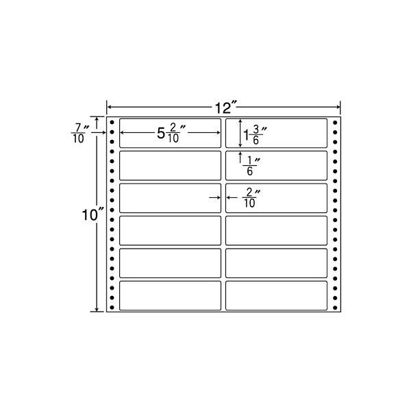 東洋印刷 タックフォームラベル MX12F (直送品)