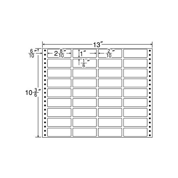 東洋印刷 タックフォームラベル MX13I (直送品)
