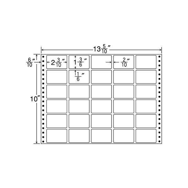 東洋印刷 タックフォームラベル MX13P (直送品)