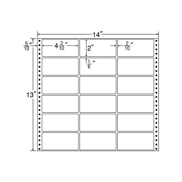 東洋印刷 タックフォームラベル MX14A (直送品)
