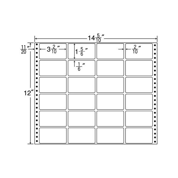 東洋印刷 タックフォームラベル MX14G (直送品)