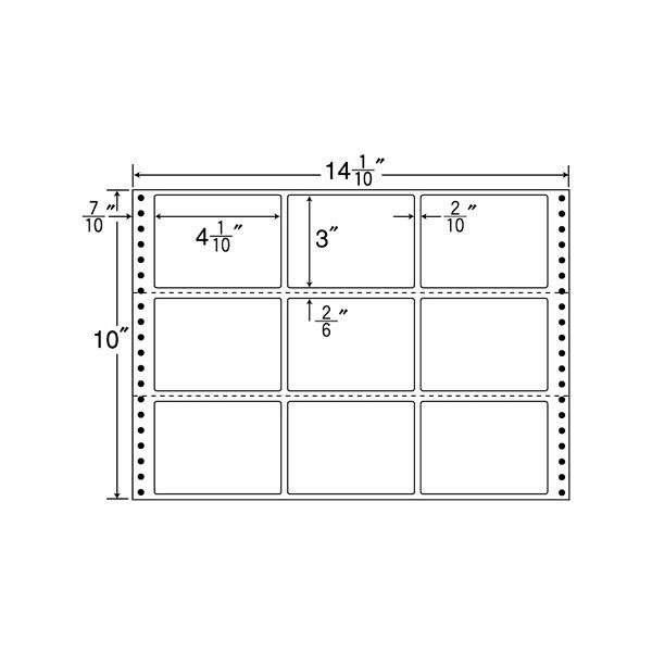 東洋印刷 タックフォームラベル MX14K (直送品)