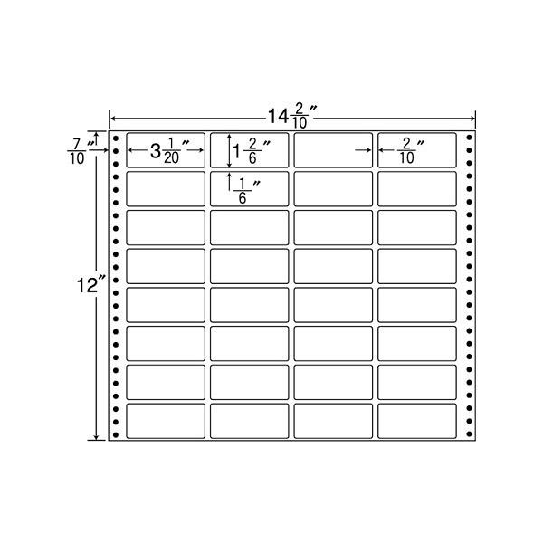 東洋印刷 タックフォームラベル MX14M (直送品)