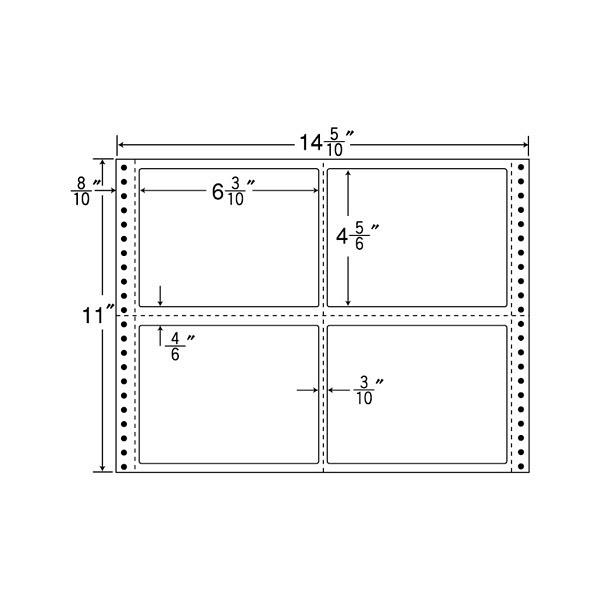 東洋印刷 タックフォームラベル MX14O (直送品)