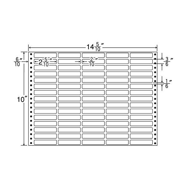 東洋印刷 タックフォームラベル MX14U (直送品)