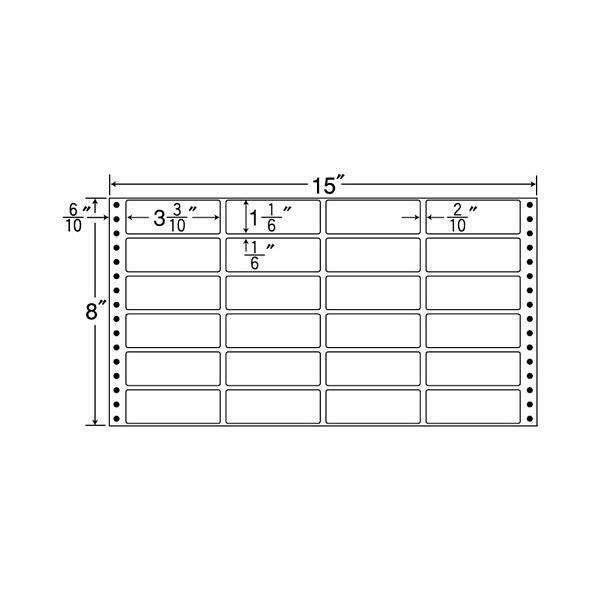 東洋印刷 タックフォームラベル MX15G (直送品)