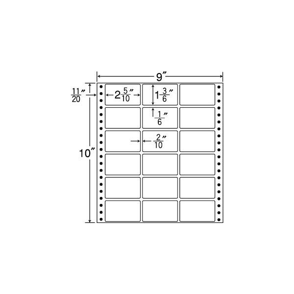 東洋印刷 タックフォームラベル MX9C (直送品)