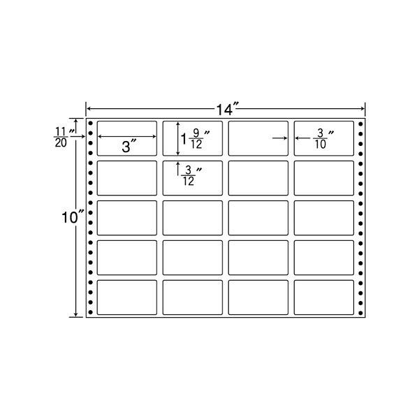 東洋印刷 タックフォームラベル再剥離タイプ RT14J (直送品)