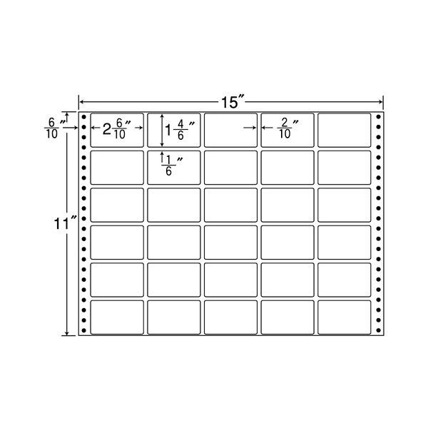 東洋印刷 タックフォームラベル再剥離タイプ RT15B (直送品)
