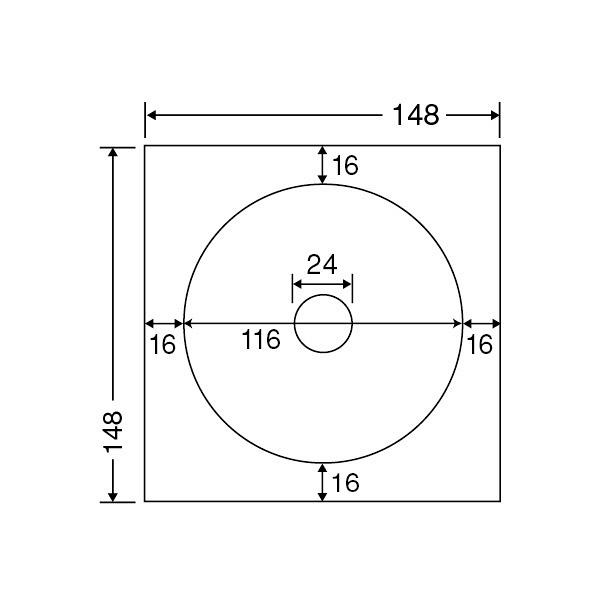 東洋印刷 CD-R/DVD-R用レーザープリンタ用ラベル 内円・小タイプ SCLR3 (直送品)