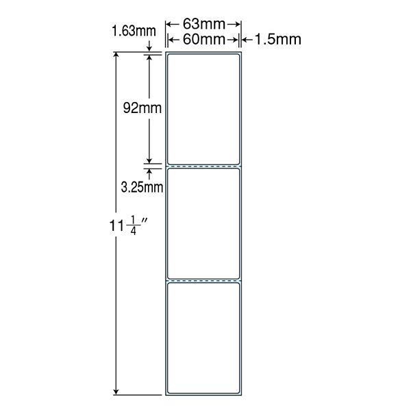 東洋印刷 PDラベル TMR2B (直送品)