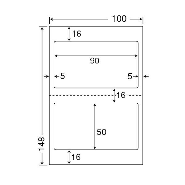東洋印刷 医療機関向けマルチタイプラベルはがきサイズ CLH25 (直送品)