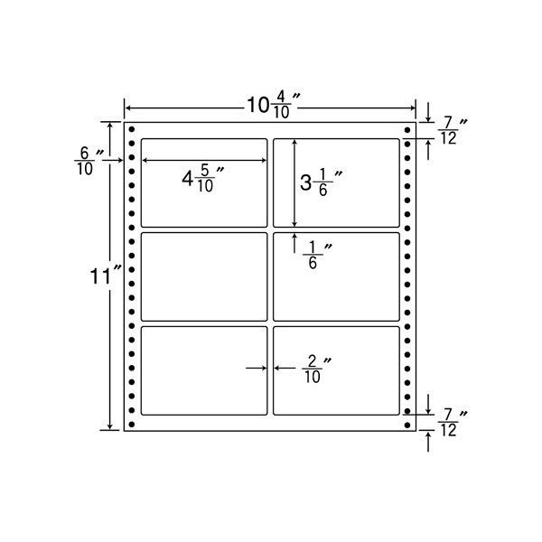 東洋印刷 タックフォームラベル耐熱タイプ L10A (直送品)