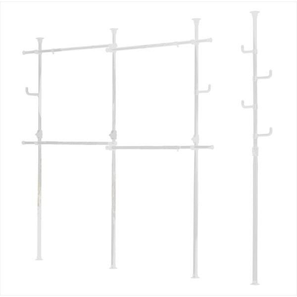 ドリームウェア ドリームハンガー ワンタッチ式 突っ張りポールハンガー (ダブル) 幅2000-3400×高さ1700-2800mm 2台入 ホワイト(直送品)