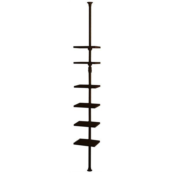 ドリームウェア ドリームハンガー ワンタッチ式 突っ張りハンガーマルチラック 幅305×奥行270×高さ1700-2800mm ブラック (直送品)