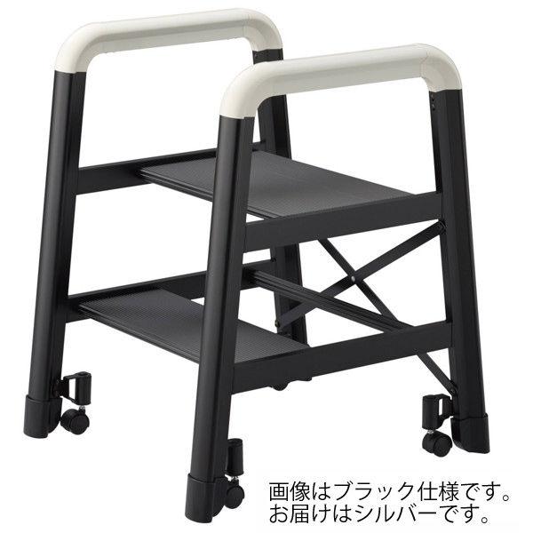 Hasegawa(長谷川工業) 高所 キャスター付 作業台 キャンバー2Bブラック 2段 41cm DE2.0-2S 1台 (直送品)