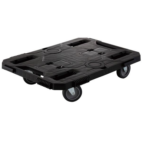 長谷川工業 樹脂製平台車 Zeal Cart ジルカート ブラック NEOB (直送品)