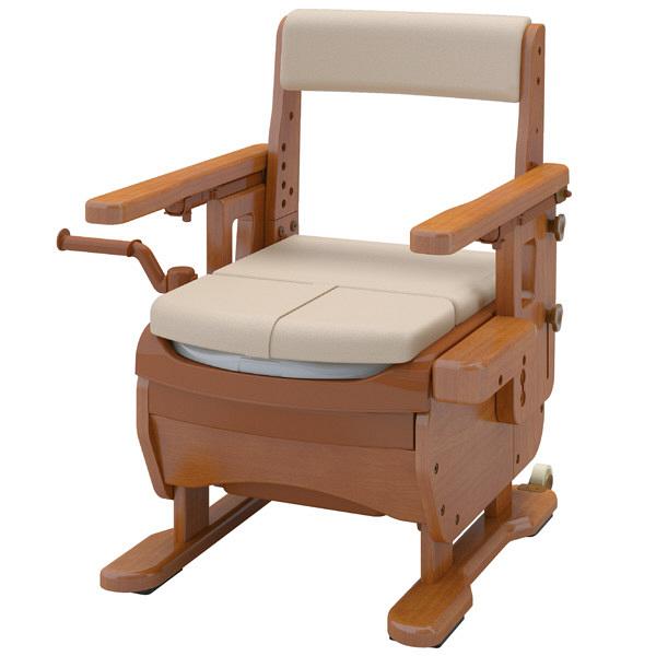 アロン化成 安寿 家具調トイレセレクトR はねあげ ソフト・快適脱臭 1台 533-869 (直送品)