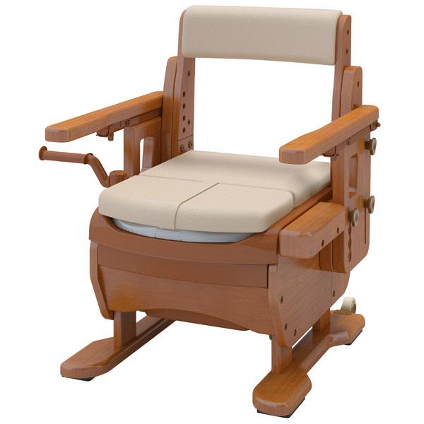 アロン化成 安寿 家具調トイレセレクトR はねあげワイド 暖房・快適脱臭 533-876 (直送品)