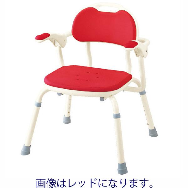 アロン化成 ひじ掛け付きシャワーベンチ TH-S 角型 ブルー 536-140 (直送品)