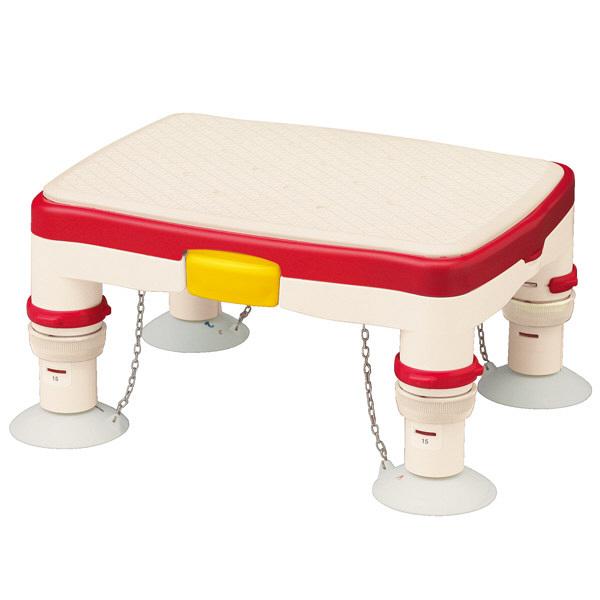 アロン化成 安寿 高さ調節付浴槽台R ミニ ソフトクッション レッド 536-486 (直送品)