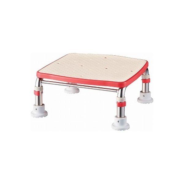 アロン化成 安寿 ステンレス製 浴槽台R ジャスト 17.5-25 レッド 536-496 (直送品)