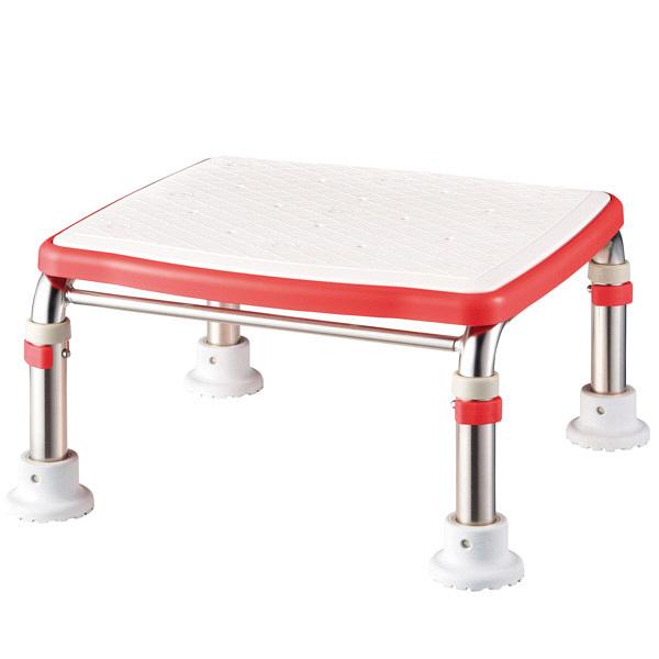 アロン化成 安寿 ステンレス製 浴槽台R ジャストソフト レッド 536-501 (直送品)