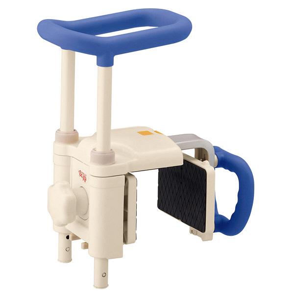 アロン化成 安寿 高さ調節付浴槽手すり UST-200N ブルー 536-615 (直送品)