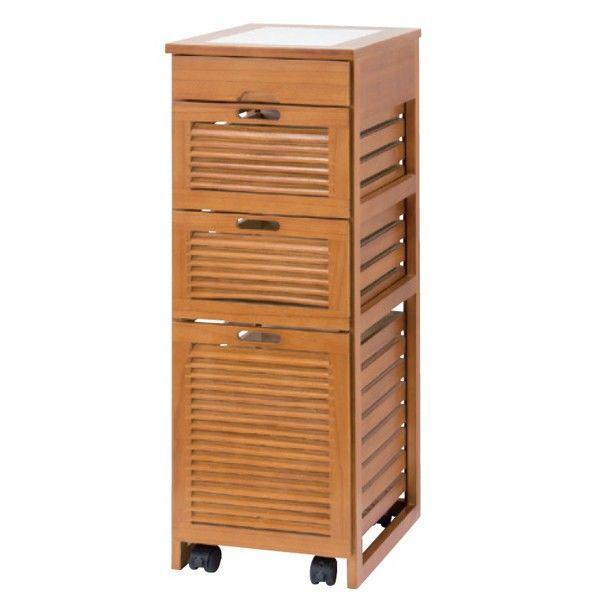 木製キッチンストッカー 4段